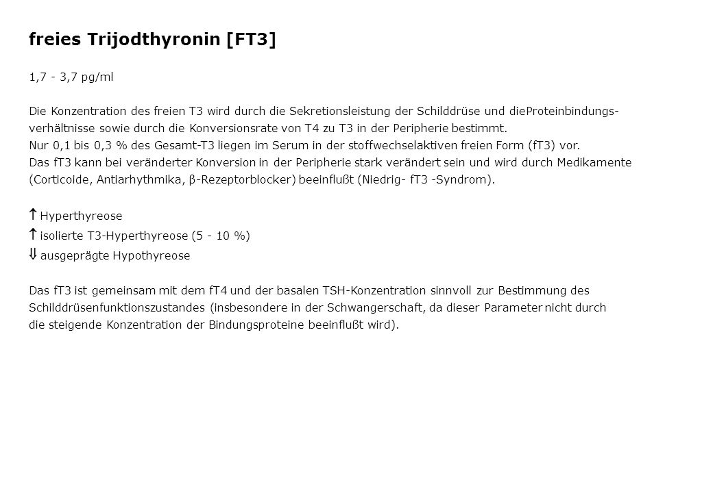 freies Trijodthyronin [FT3]